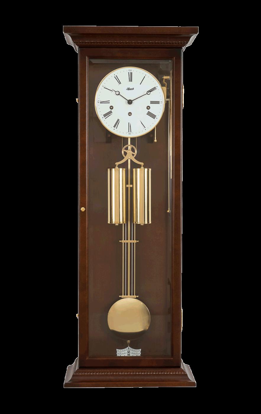 Все настенные часы с боем, гирями и маятником выполнены в классическом стиле в деревянном корпусе.